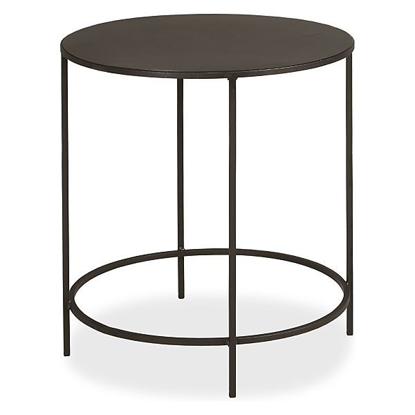Best Slim Round End Tables In Natural Steel Modern End Tables 400 x 300