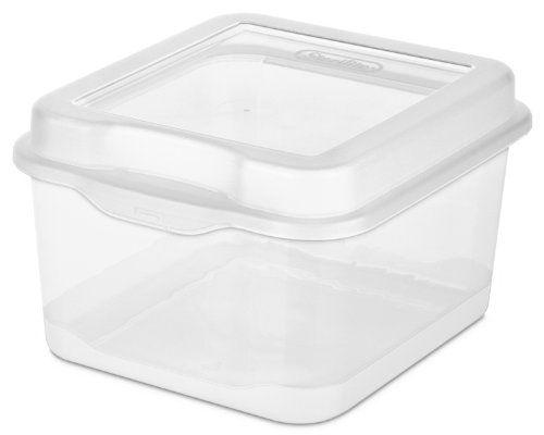 Sterilite 18038612 Flip Top, Clear, 12 Pack