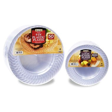 order one small in plates and 50 large plates) Daily Chef Clear Plastic Plate Bundle ct.  sc 1 st  Pinterest & order one (100 small 6.25 in plates and 50 large plates) Daily Chef ...