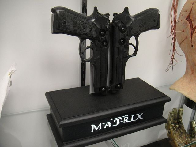 Neo Pistols From The Matrix GUNS IN MOVIES Pinterest Guns - Replacing guns in famous movie scenes with selfie sticks is way better than youd imagine