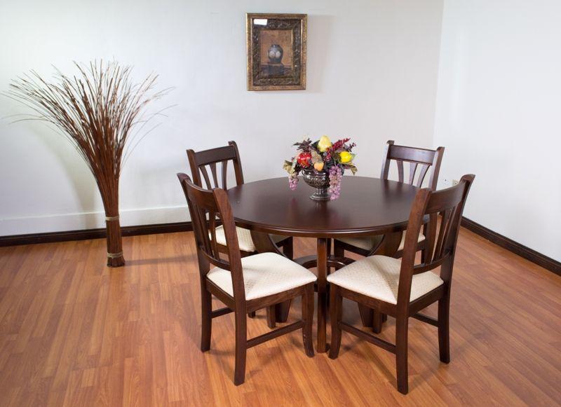 Comedor madera redondo muebles y otros Pinterest Comedores