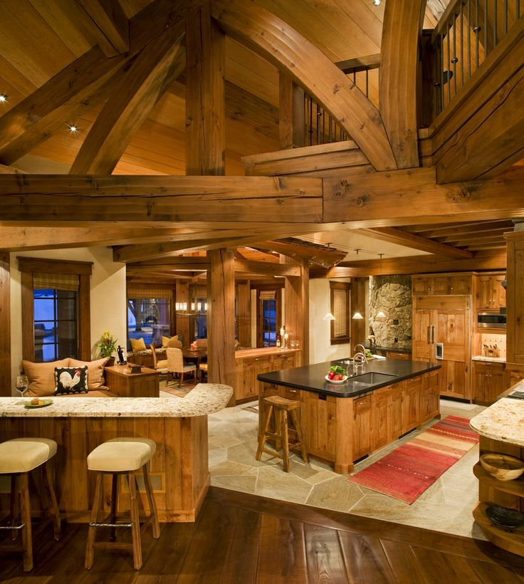 Log Home Kitchens Real Log Style: Diamond Star Ranch In Eagle, Colorado
