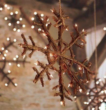 Estrella navideña rustica