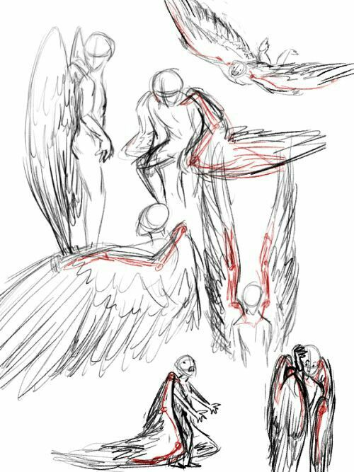 Wings How To Draw Manga Anime Wings Drawing Drawings Art Reference Poses