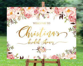 Bridal Shower Welcome Sign, Bridal Shower sign, Bridal Shower decoration, PRINTABLE Welcome sign, Bridal Brunch Sign, Bridal Tea Sign, ts.id