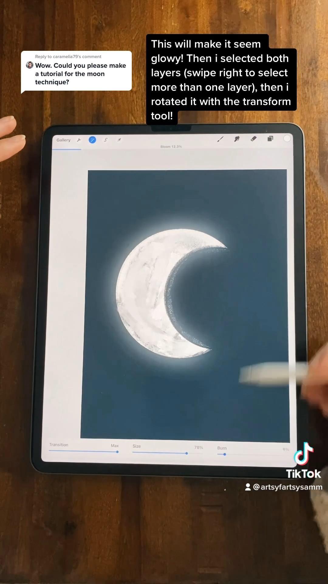 Moon Tutorial In Procreate Video In 2021 Procreate Digital Art Tutorial Tutorial