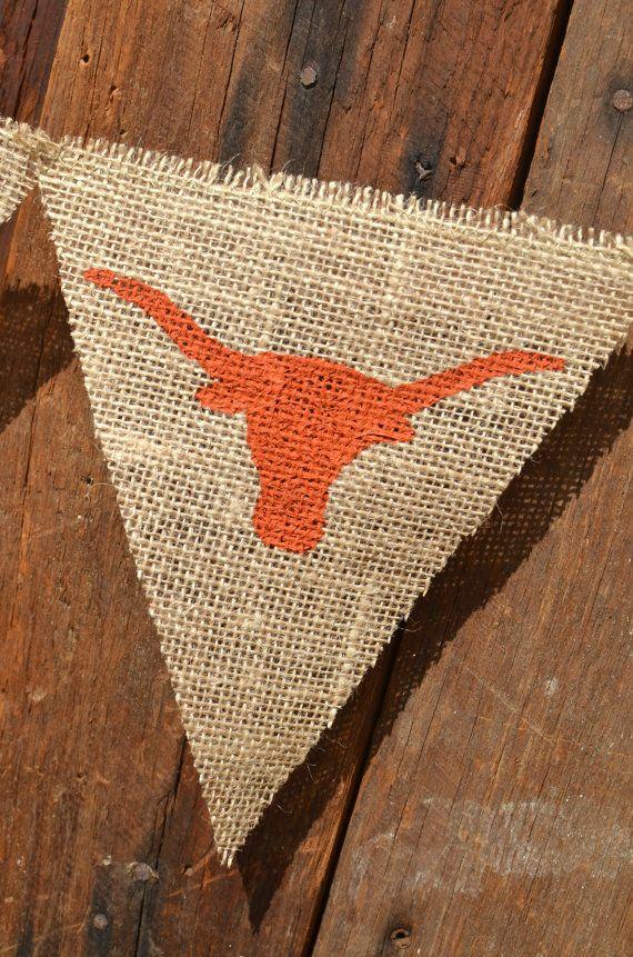Longhorn Pennant Banner For University Of Texas