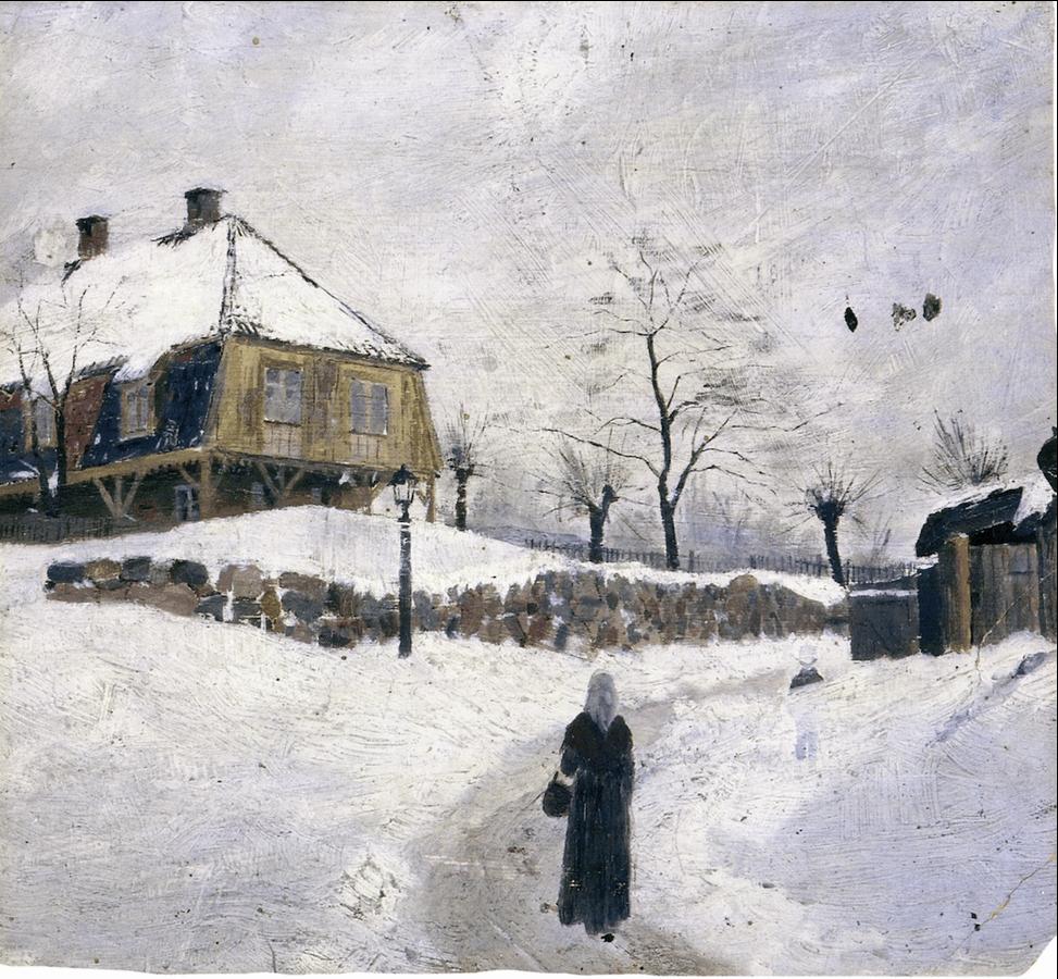 Øvre Foss in Winter 1882. Edward Munch (1863-1944)