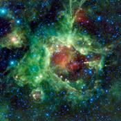 NASA's Wide-field Infrared Survey Explorer, captured this image of a star-forming cloud of dust and gas located in the constellation of Monoceros. Sh2-284 is relatively isolated at the very end of an outer spiral arm of our Milky Way galaxy.
