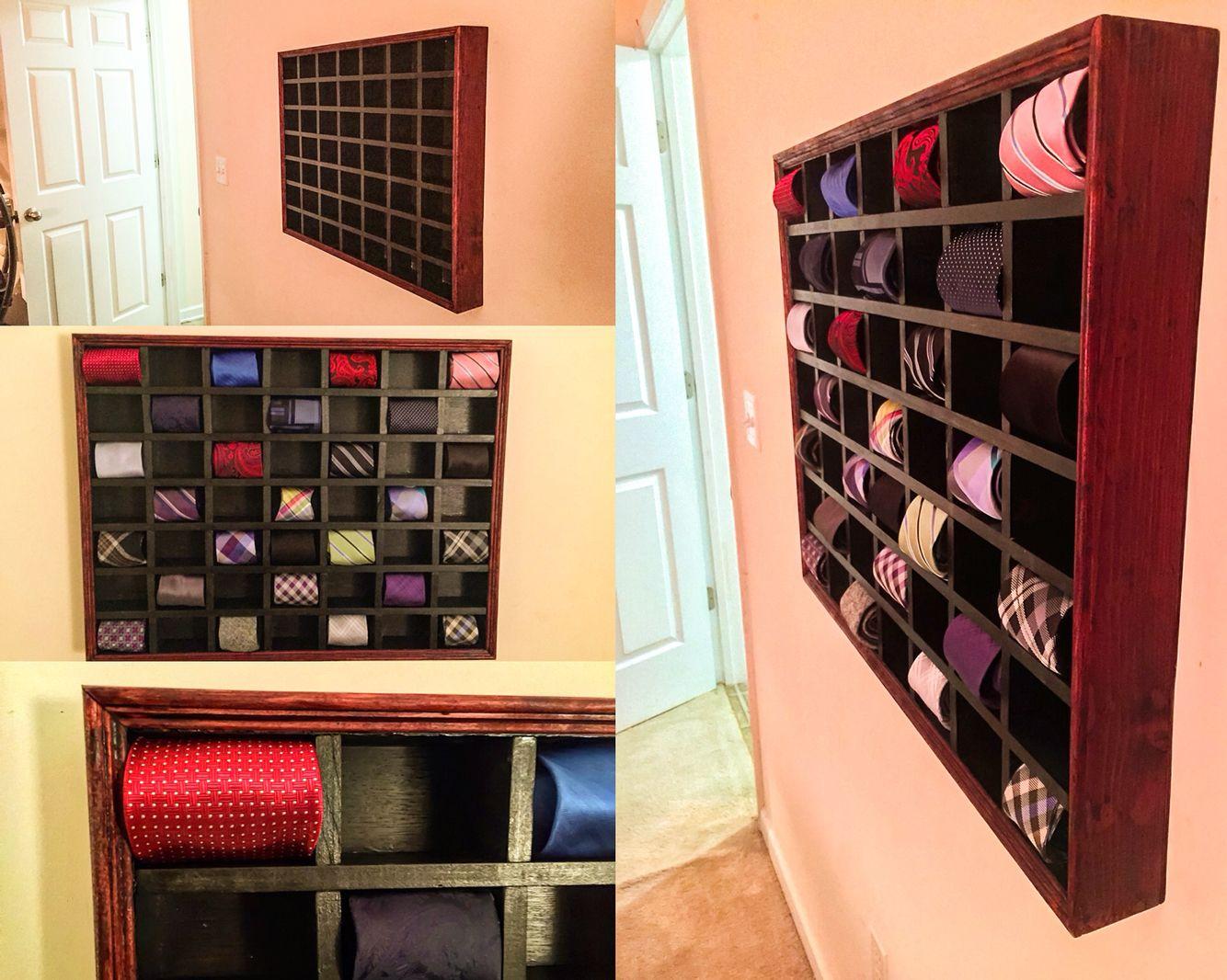 2bd260cf9d99 Built my tie box that holds 49 ties. Organizer storage men's neck ...