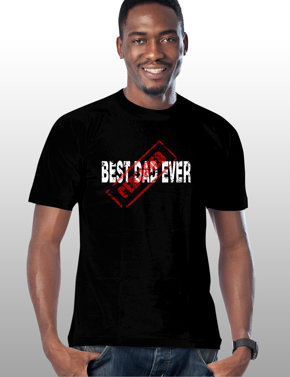 Certified Best Dad Ever Tshirt. Great gift for dad's