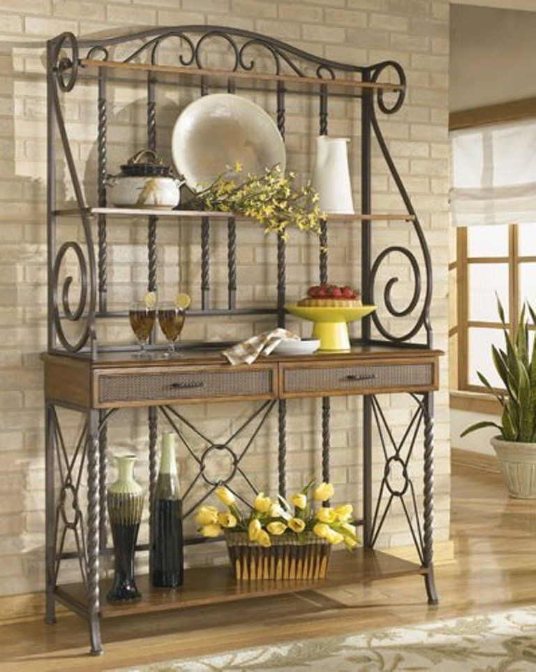 Wrought Iron Bakers Rack Muebles De Hierro Muebles De Metal