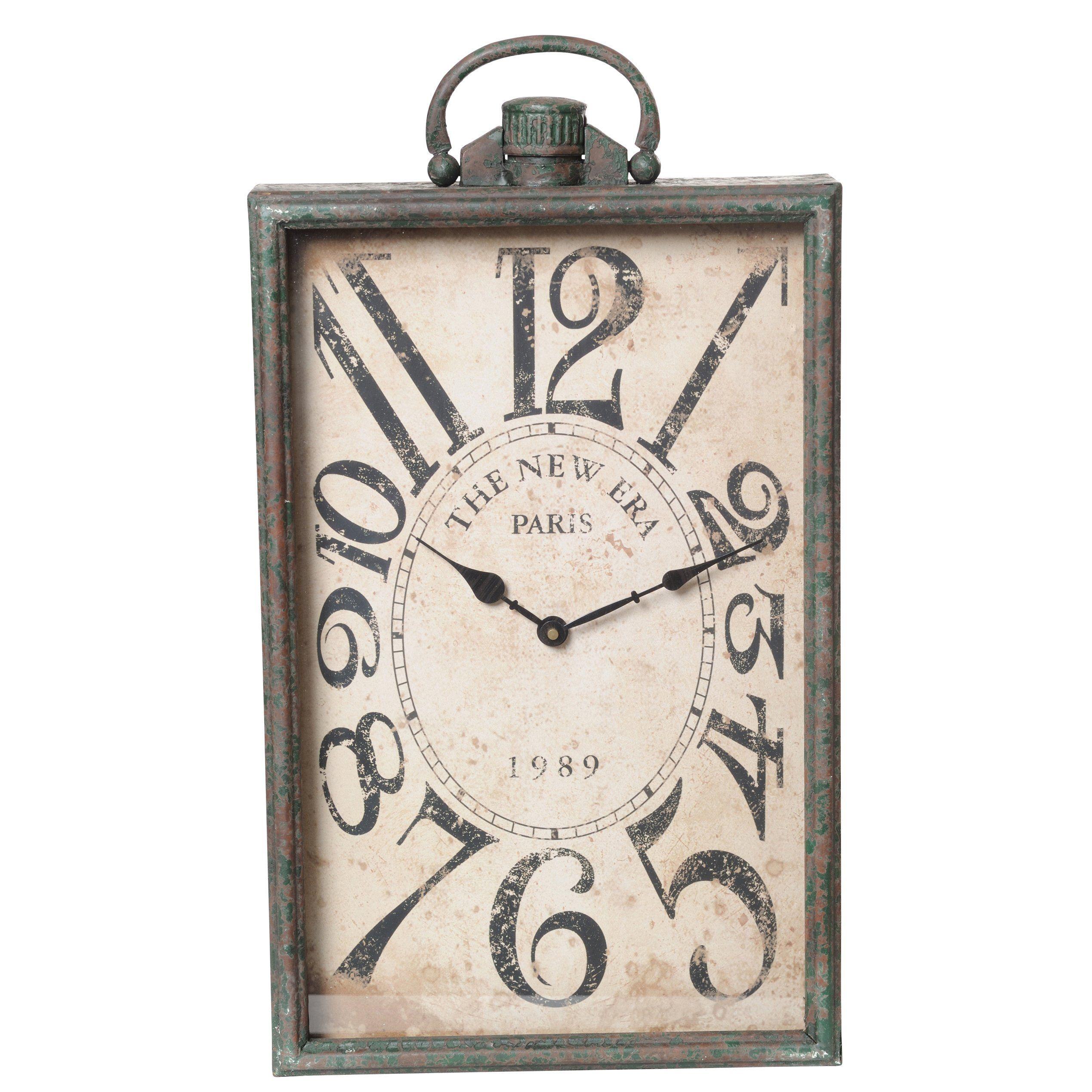 Rectangular Clock Face Metal Clock Rectangle Wall Clock Paris Wall Clock