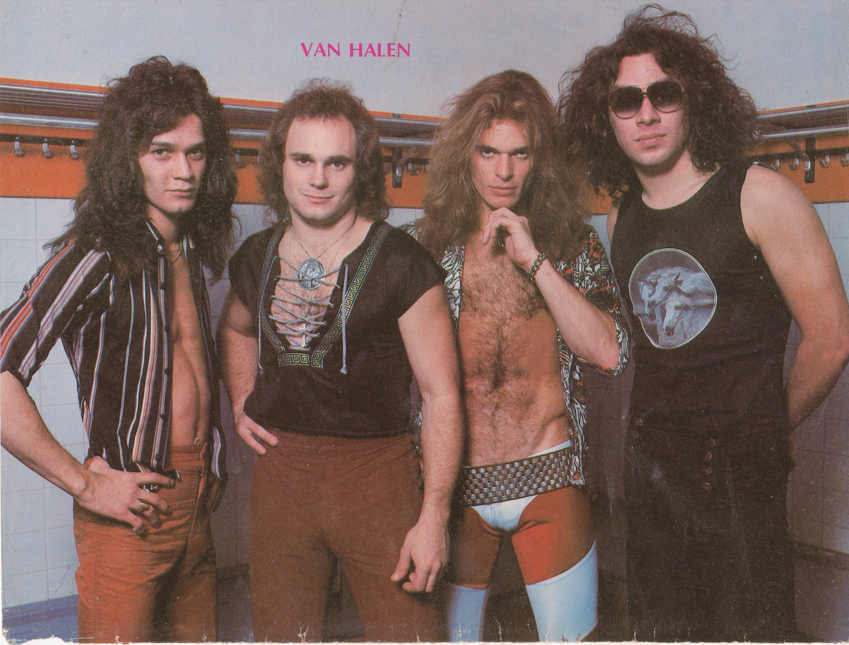 Young Van Halen Van Halen Eddie Van Halen David Lee Roth