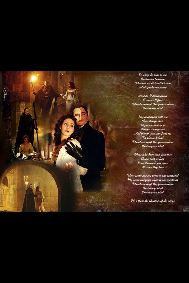 Lyric lyrics opera : Phantom of the Opera lyrics | The Phantom of the Opera | Pinterest ...