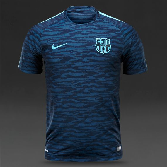 Nike FC Barcelona Flash Night Rising SS Top - Light Current Blue Black 198d394c0e2