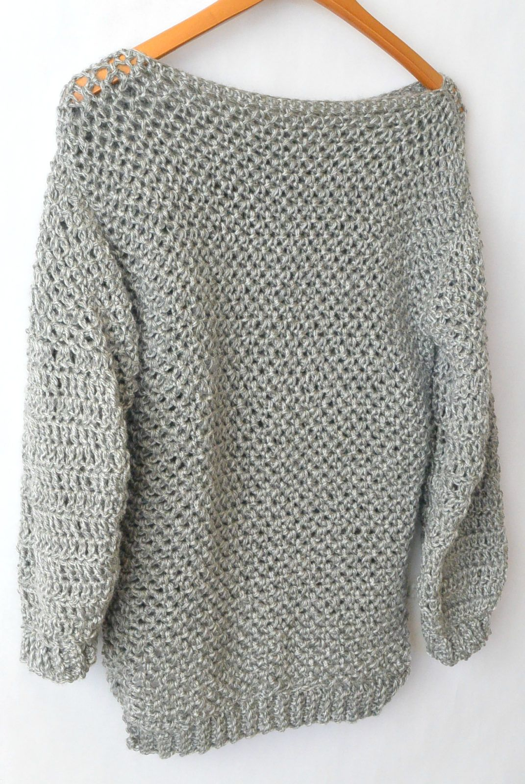 How To Make An Easy Crocheted Sweater Knit Like