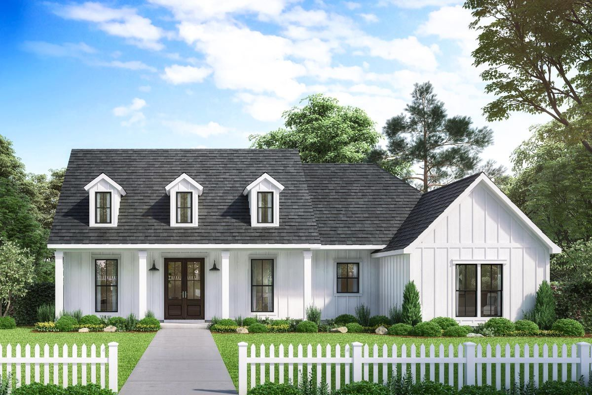 Plan 56447SM Exclusive Modern Farmhouse with Expansive