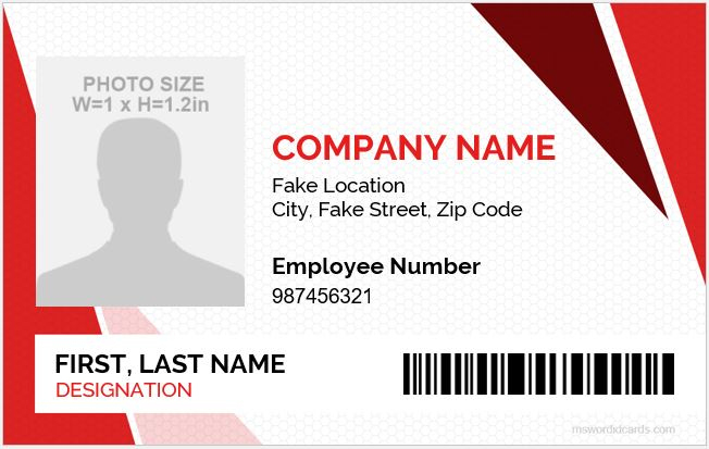 5 Best Employee Id Card Format In Word Microsoft Word Id With Regard To Employee Card Template Word In 2021 Employee Id Card Id Card Template Employees Card