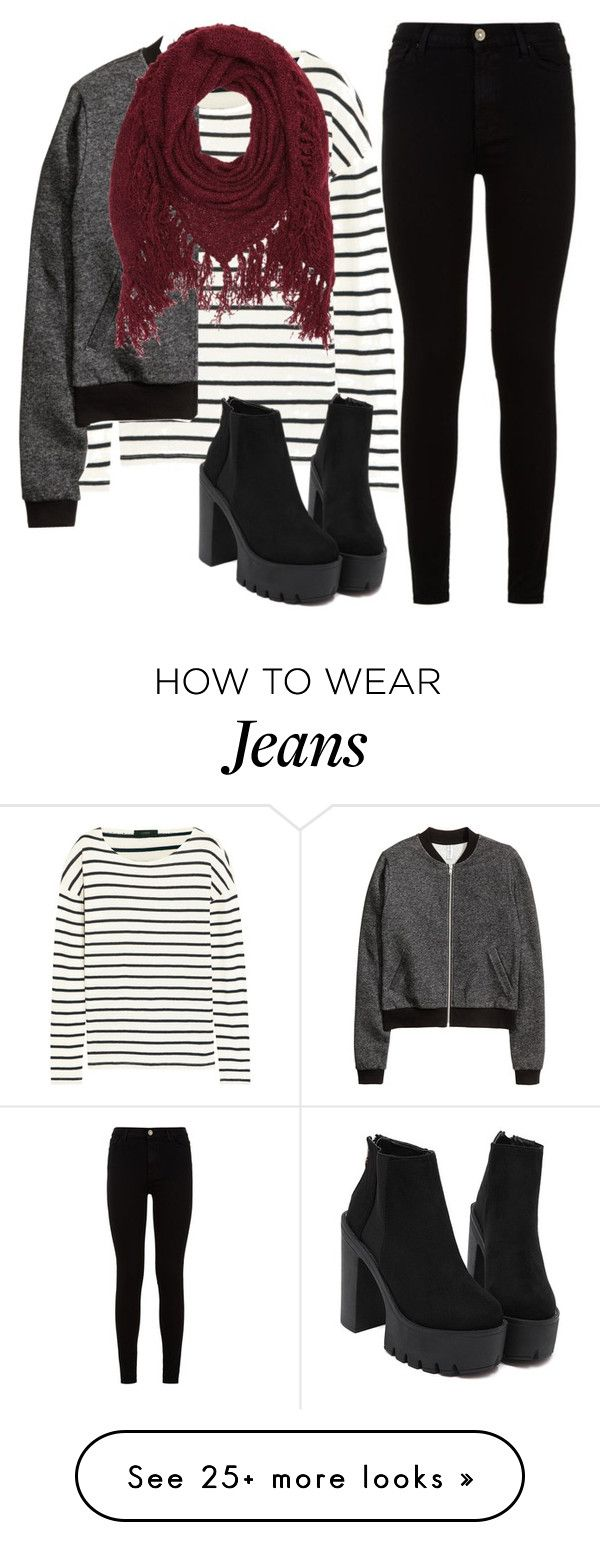 """""""Untitled #1430"""" by lauraafreedom on Polyvore featuring 7 For All Mankind, J.Crew, H&M and Charlotte Russe"""