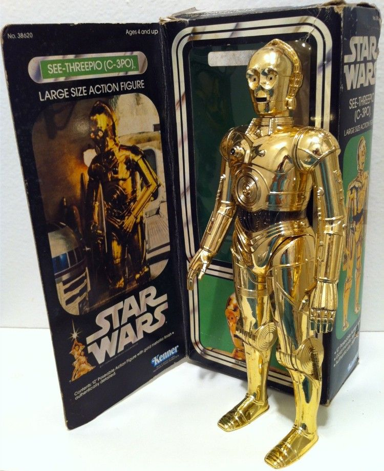 R2d2 And C3po Toys : Kenner c po large size action figure vintage toys