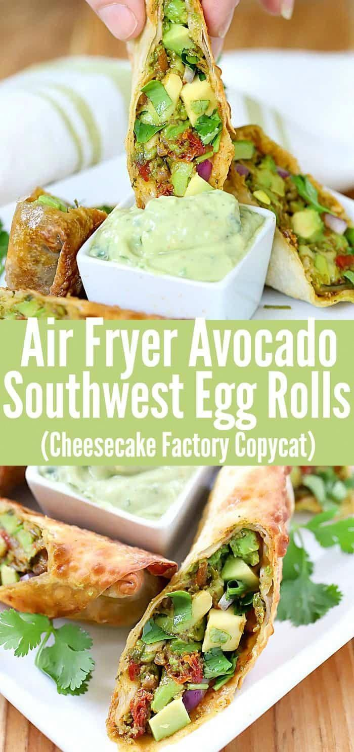 These delicious Air Fryer Southwest Egg Rolls are made with soft, rich avocados, crunchy sweet red