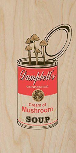 'Original' Dampbell's Cream of Mushroom w/ Fungus Growing - Plywood Wood Print Poster Wall Art
