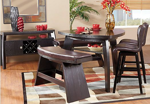 Noah Chocolatee 4 Pc Counter Height Dining Room Rooms To Go Furniture Affordable Dining Room Sets Dining Room Sets