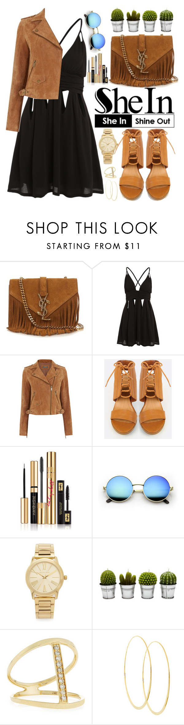 """Shein"" by oshint ❤ liked on Polyvore featuring Yves Saint Laurent, Oasis, Michael Kors, Billabong, Sydney Evan and Lana"