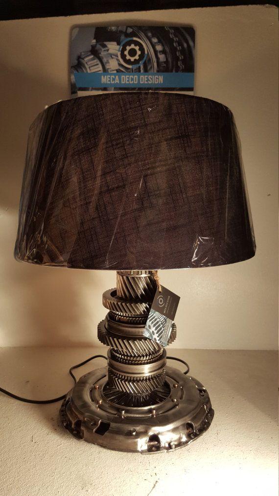 lampe engrenage de boite31 2 meca deco design par mecadecodesign lampe engrenage pinterest. Black Bedroom Furniture Sets. Home Design Ideas
