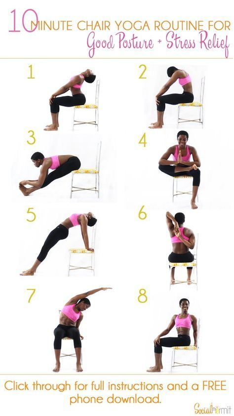 Social Hermit Chair Yoga Yoga For Beginners Yoga Routine