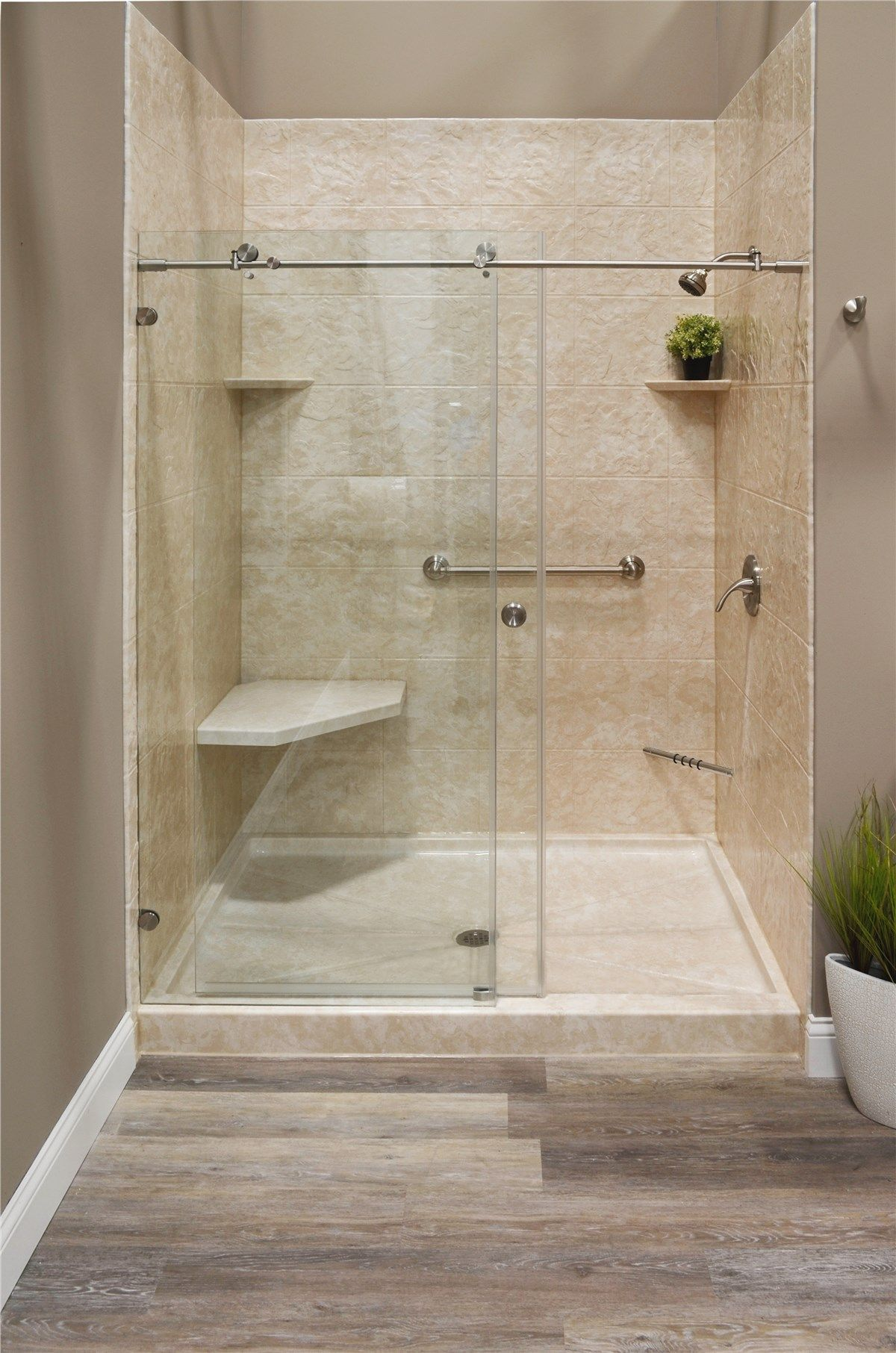 Shower Remodel Home Interior Design Ideas In 2020 Tub To Shower Conversion Bathroom Remodel Shower Shower Remodel