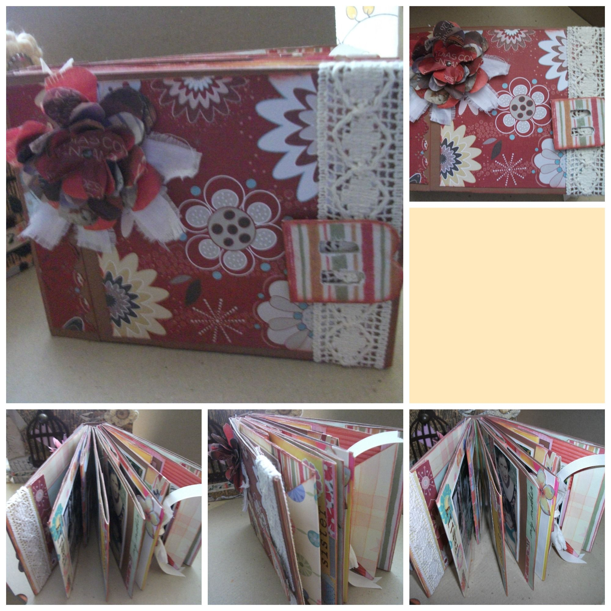 mini album hecho con bolsas de papel kraft.