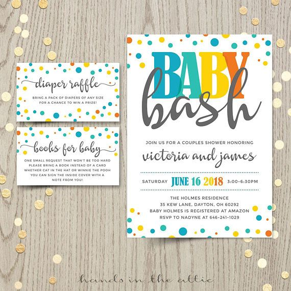 Baby bash couples co ed baby shower invitation card baby boy shower a printable baby bash invitation card honoring mom to be or parents to be customized for you delivered by email stopboris Gallery