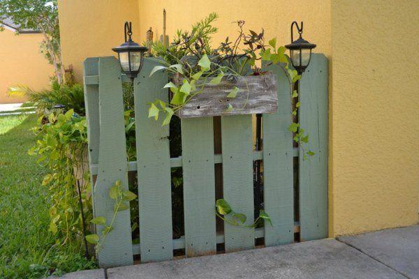 Vorgarten Ideen Tumblr- Europaletten im Garten und zu
