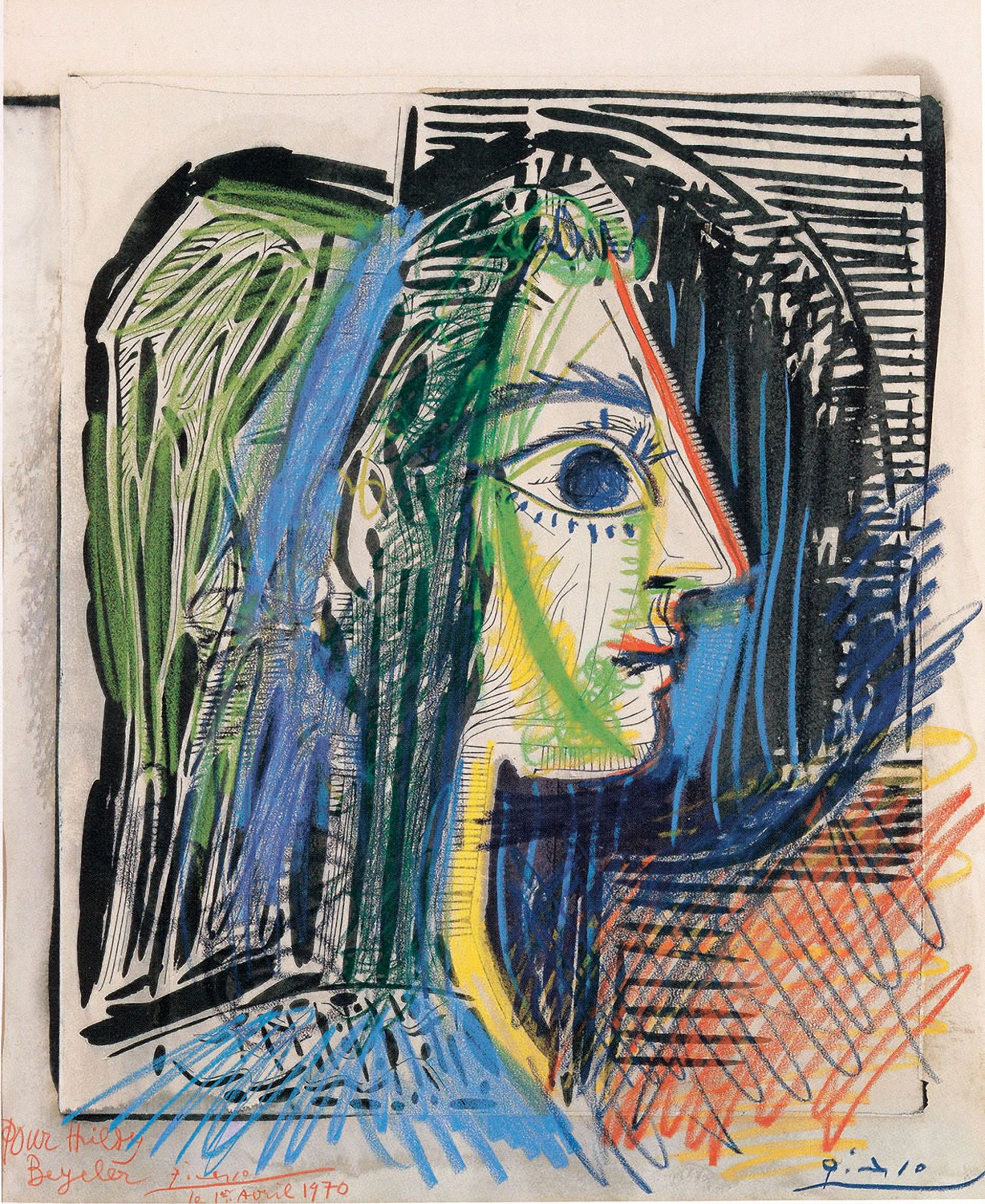 Pablo Picasso-Profile of a Woman-1969 Poster