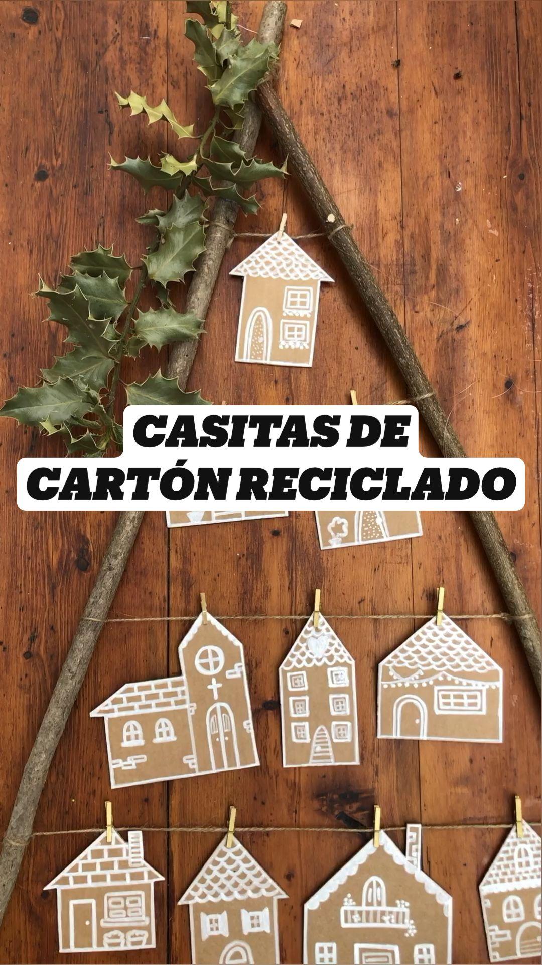 CASITAS DE  CARTÓN RECICLADO