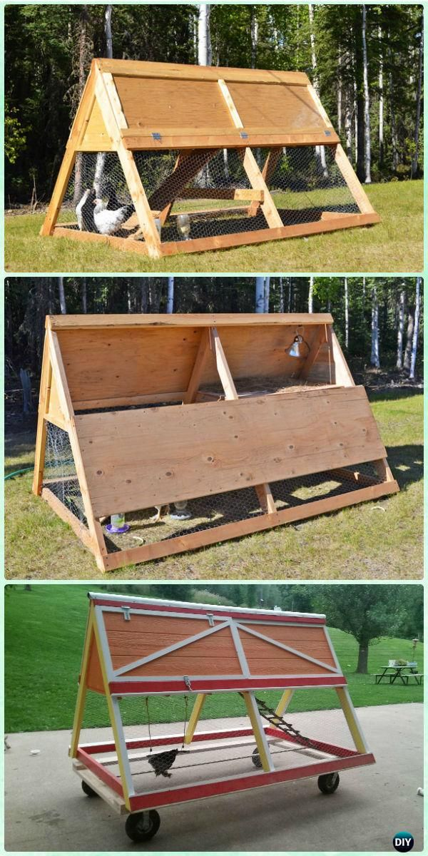 DIY A Frame Chicken Coop Free Plan & Instructions - DIY Wood Chicken ...
