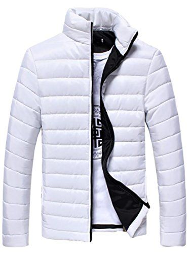 Generic Mens Packable Down Puffer Jacket Stand Collar Down Coats