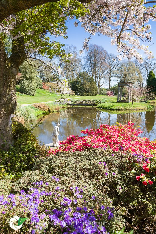 Cholmondeley Castle - Temple Garden in May, Cheshire, England