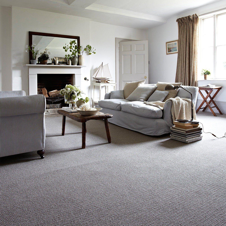 Zanzibar Deluxe Wool Carpet | Grey carpet living room ...