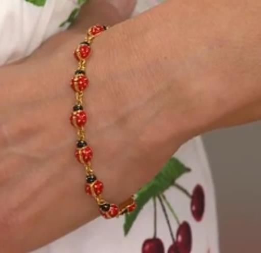 Joan Rivers Lucky Ladybug Line Bracelet RedBlack NEW JoanRivers