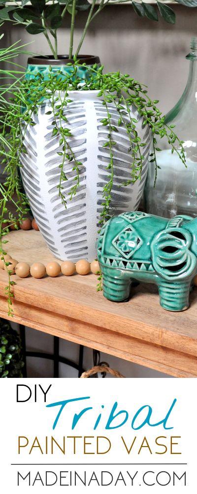 Tolle DIY Vase zum Selbermachen l Wohnzimmer Deko l Painted Tribal