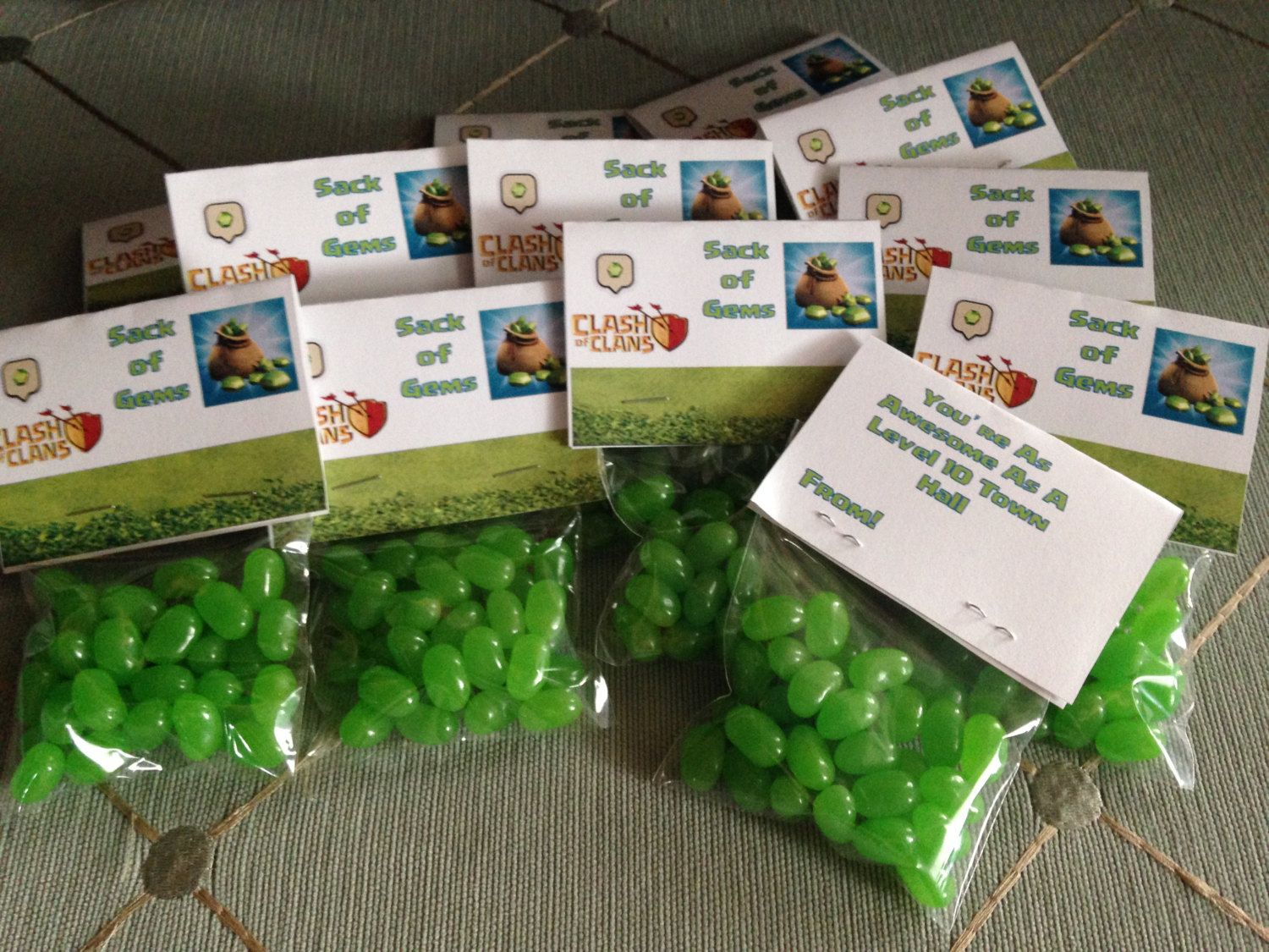 Clash of Clans Birthday Party Candy labels. Just print and staple ...