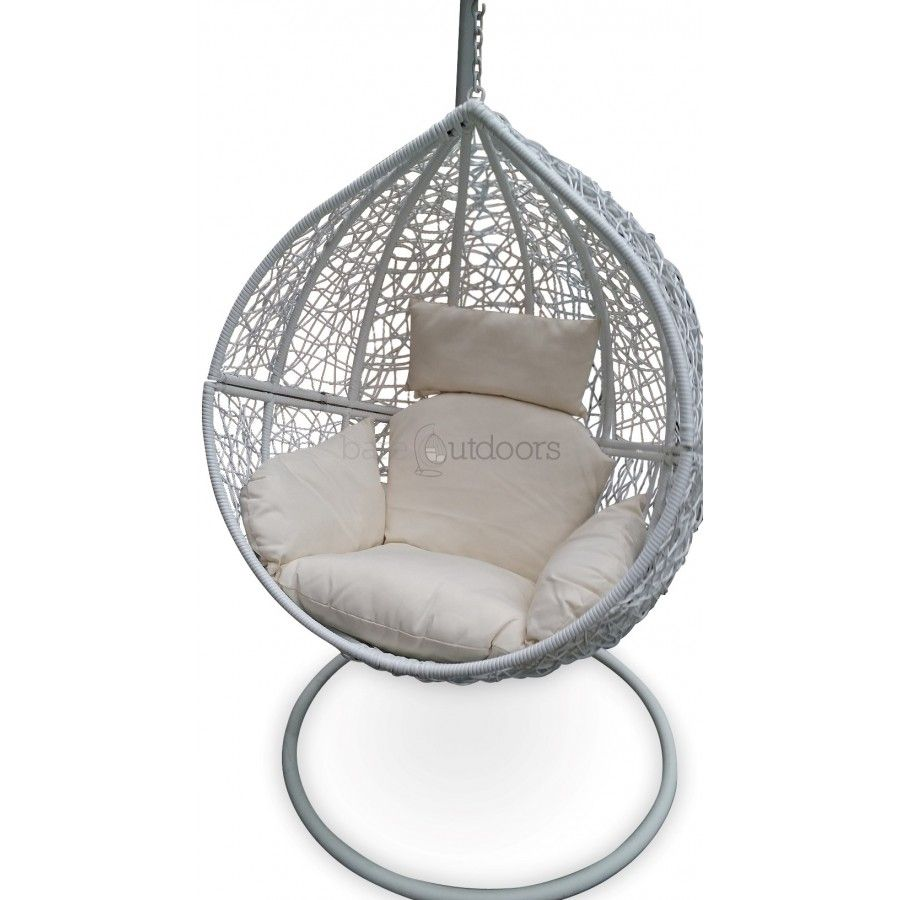 Superior Outdoor Hanging Ball Chair   White