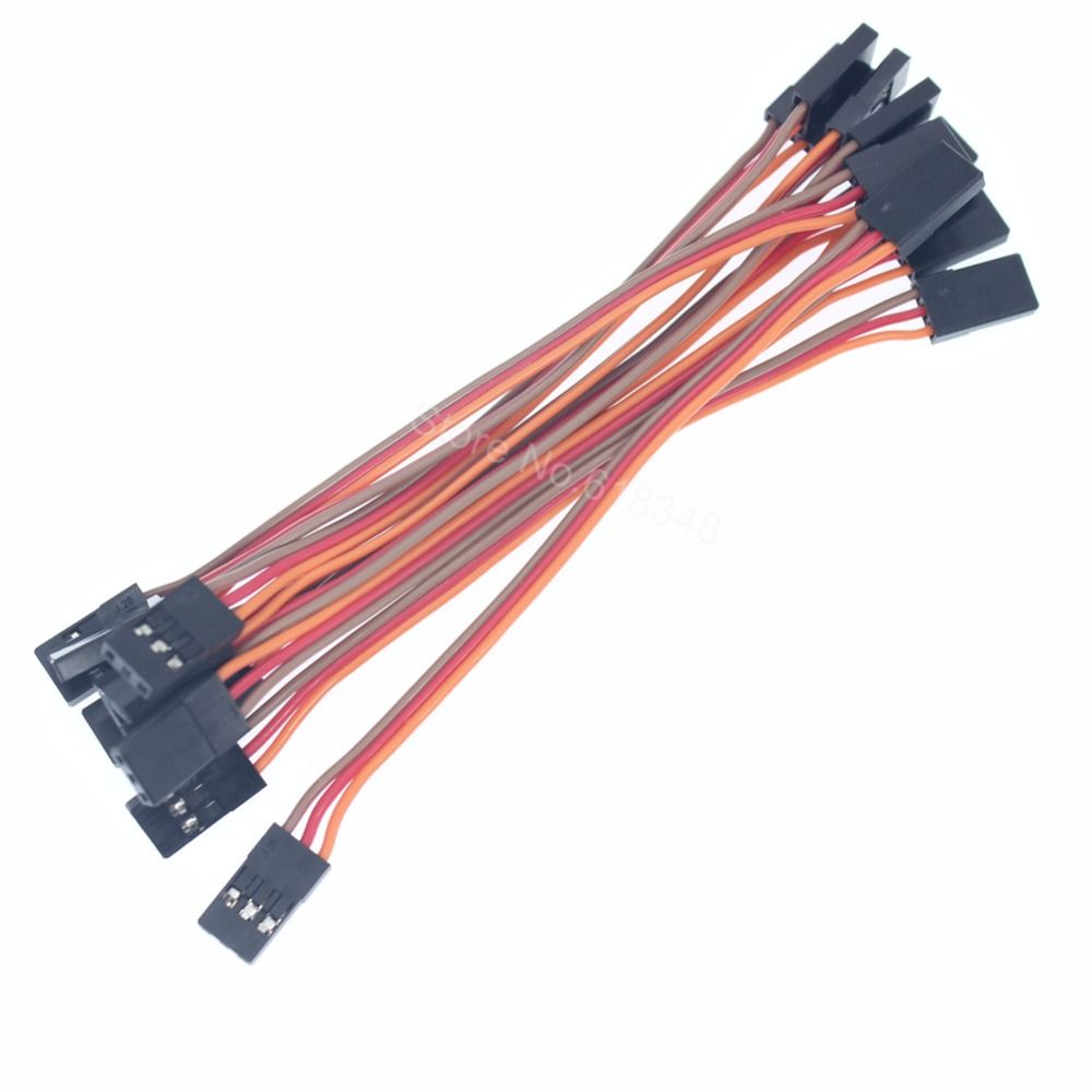3 Pins 10cm Servo Extension Lead Wire Cable Male to Male 60 Core for ...