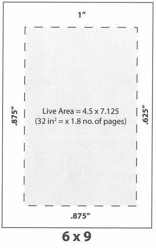Standard margins for a 6x9 book Book Design Pinterest
