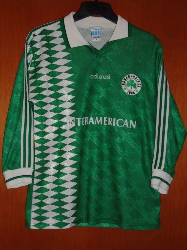 Panathinaikos L S Very Rare 1995-96 (M) adidas Football Jersey Shirt Greece b69bb6d5c