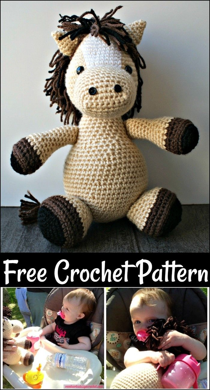 Free Crochet Horse Patterns – Amigurumi Patterns #horsepattern