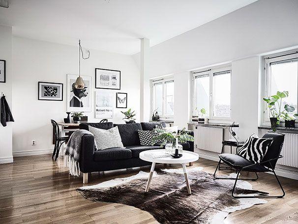 Décoration en noir & blanc | Deco, Décoration salon style scandinave et Décoration intérieure ...
